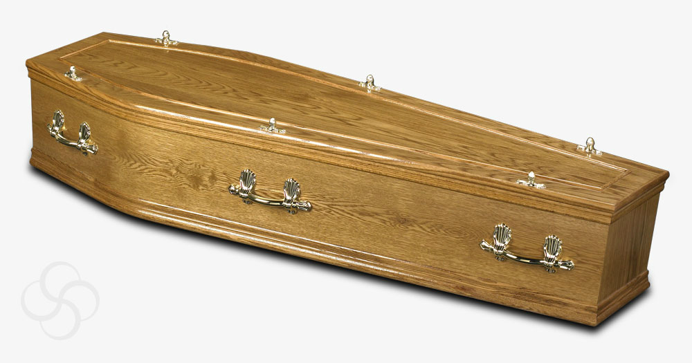 A Hardwick coffin that is a part of our mid-range coffin