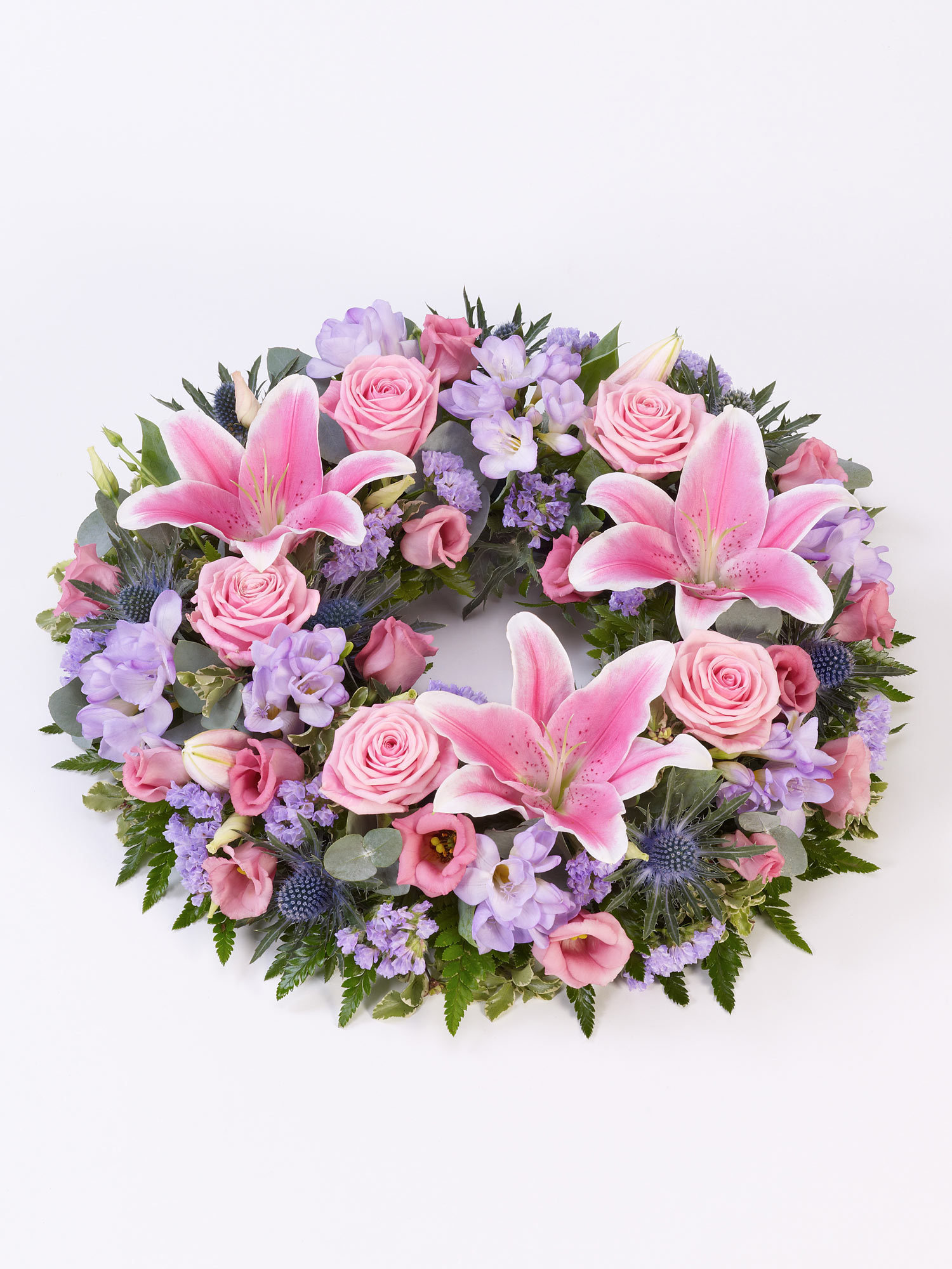 A floral wreath used as a tribute