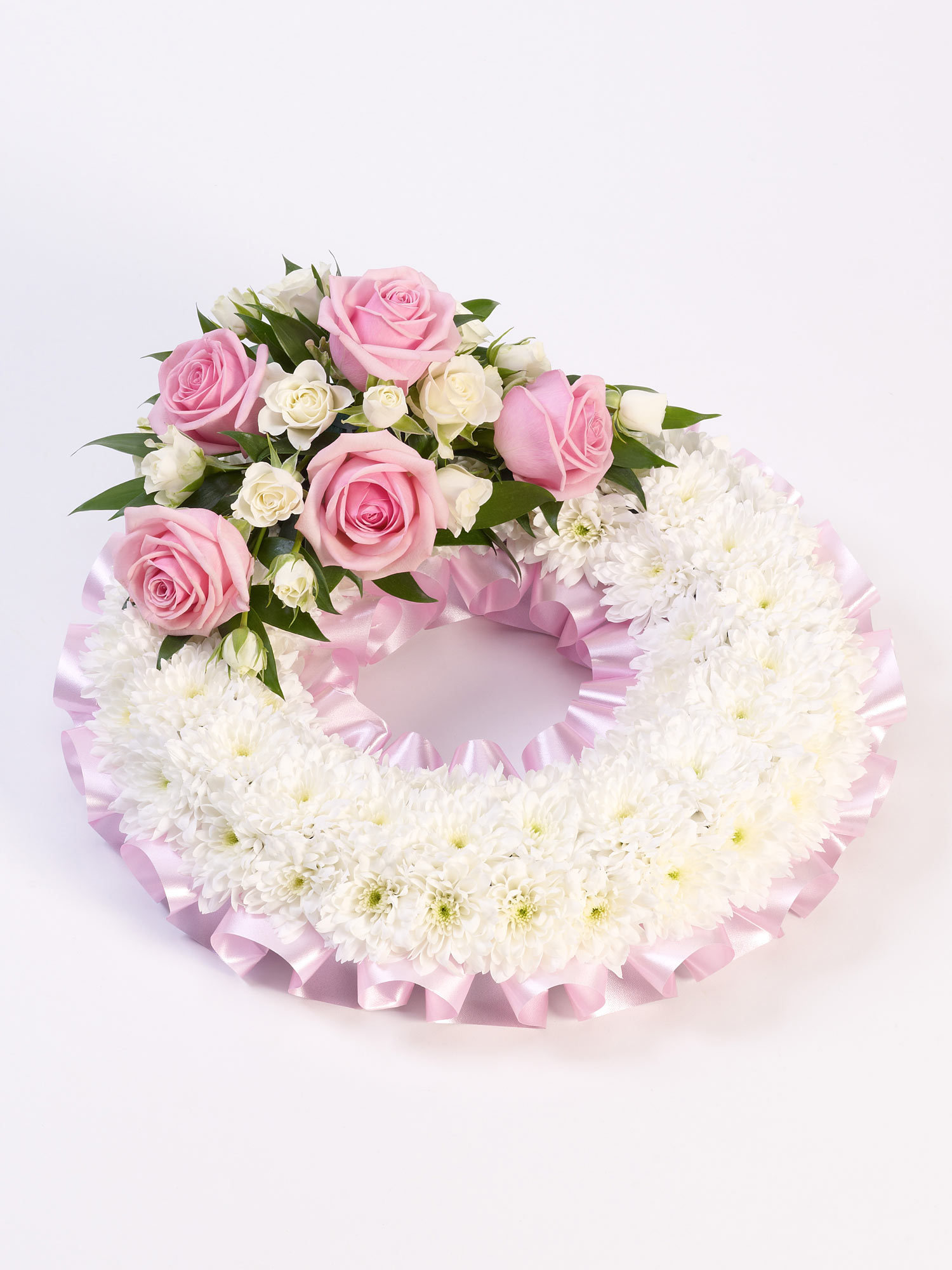 A floral wreath used for tributes