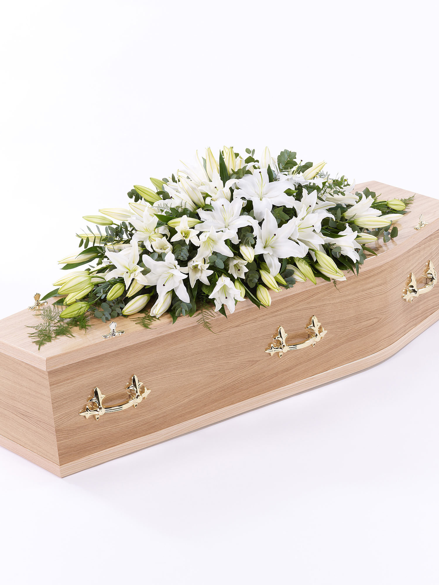 A coffin spray which is used to decorate coffins