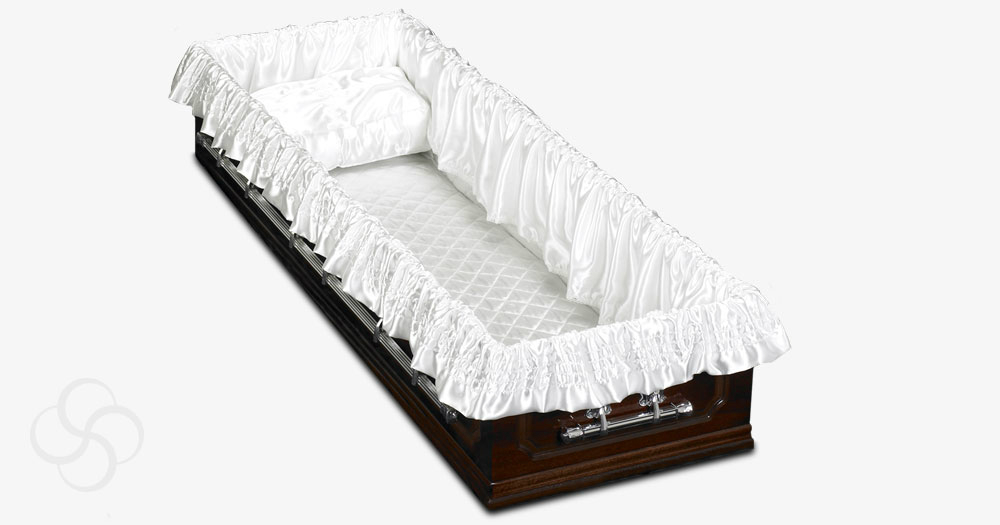 A white interior for coffins